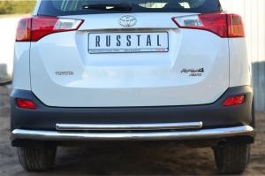 Toyota RAV 4 2013- Защита заднего бампера d63 (секции) d42 (дуга) TR4Z-001287